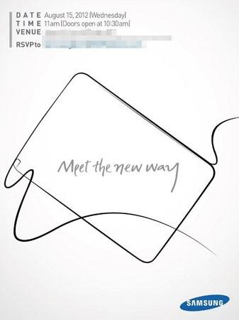 Cartaz de evento da Samsung indica lançamento do Note (Foto: Reprodução)