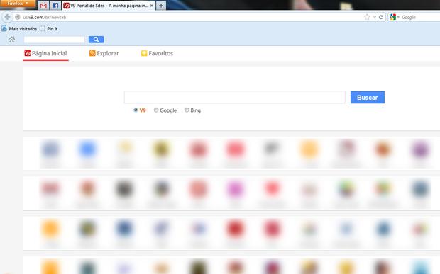 Tela do V9 no Firefox (Foto: Reprodução/Teresa Furtado)
