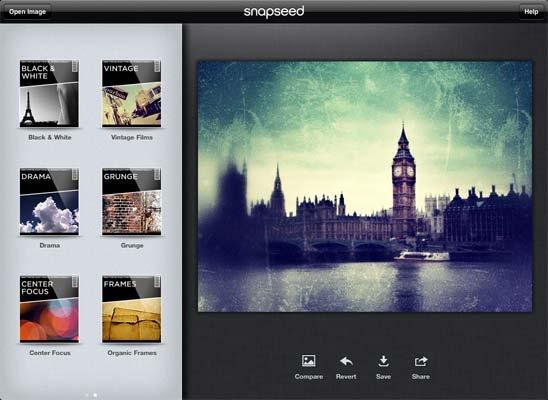 Snapseed foi adquirido pela Google e ganhará versão para Android (Foto: Reprodução) (Foto: Snapseed foi adquirido pela Google e ganhará versão para Android (Foto: Reprodução))