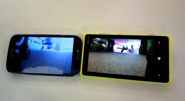 Imagem do Lumia é claramente melhor do que a do Galaxy (Foto: Reprodução)