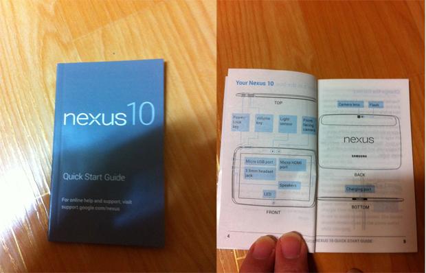 Manual do Nexus 10 foi revelado por site coreano (Foto: Reprodução/Seeko)