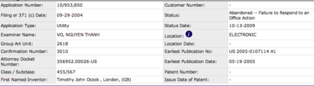 Patente da Nokia foi abandonada em 2009 (Foto: Reprodução) (Foto: Patente da Nokia foi abandonada em 2009 (Foto: Reprodução))