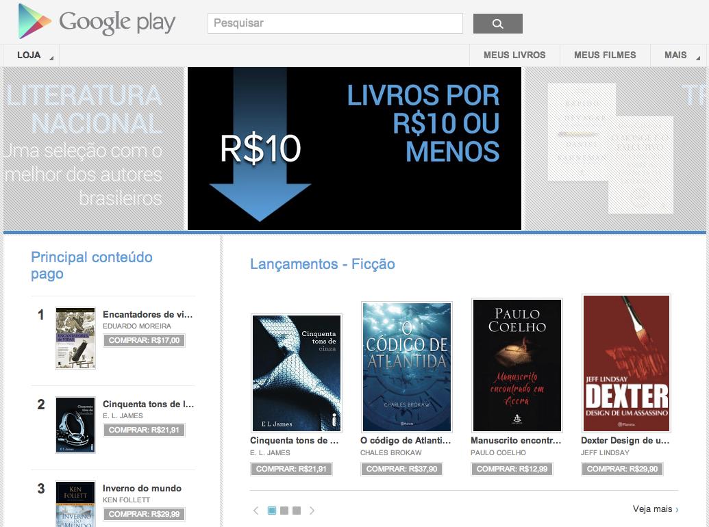 Google Play agora vende livros e filmes (Foto: Reprodução/TechTudo)