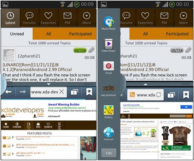 Multiwindow agora disponível para o Galaxy S2 (Foto: Reprodução)