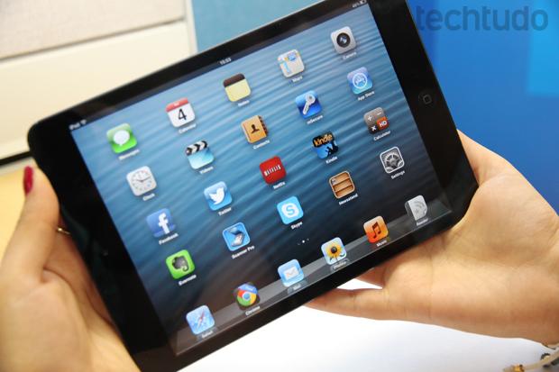 8403451ea32 iPad mini (Foto  Marlon Câmara TechTudo)
