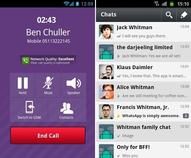 Viber e WhatsApp (Foto: Divulgação)