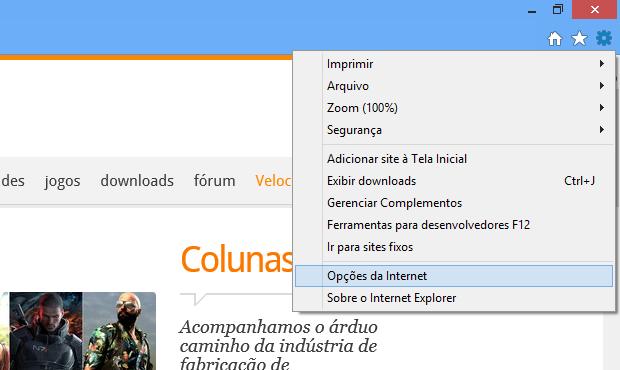 6466b5431 Veja como apagar o histórico de formulários do Internet Explorer ...
