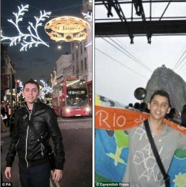 Bandido postou fotos em Londres e no Rio no seu Facebook (Foto: Reprodução/Daily Mail)