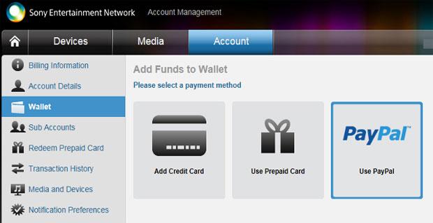 PlayStation Network passa a aceitar PayPal para compra de