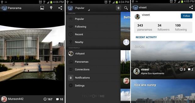 Fotos panorâmicas são atrativos deste app (Foto: Divulgação)
