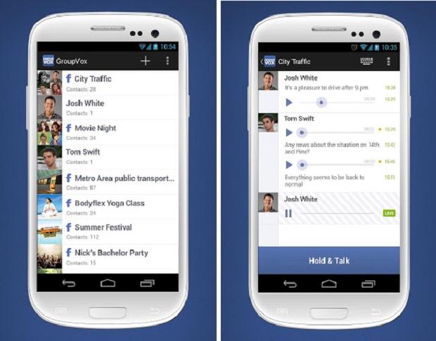 PTT permite bate-papo por voz com contatos do Facebook (Foto: Divulgação)