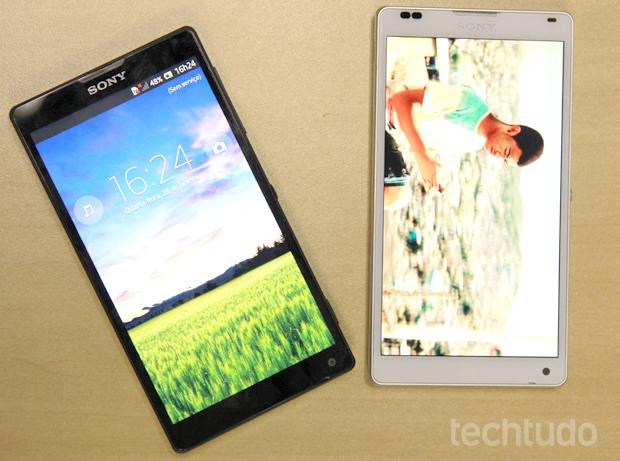 Sony Xperia ZQ: opções em branco e preto (Foto: Allan Melo / TechTudo)