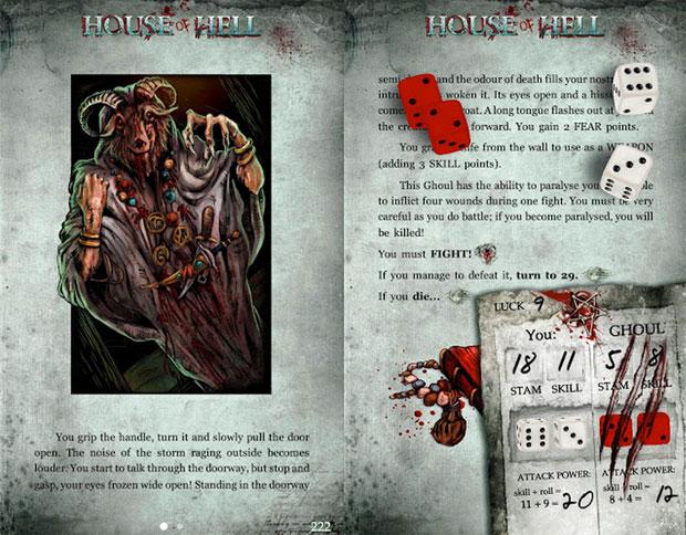 House of Hell é um livro de RPG solo que virou jogo de