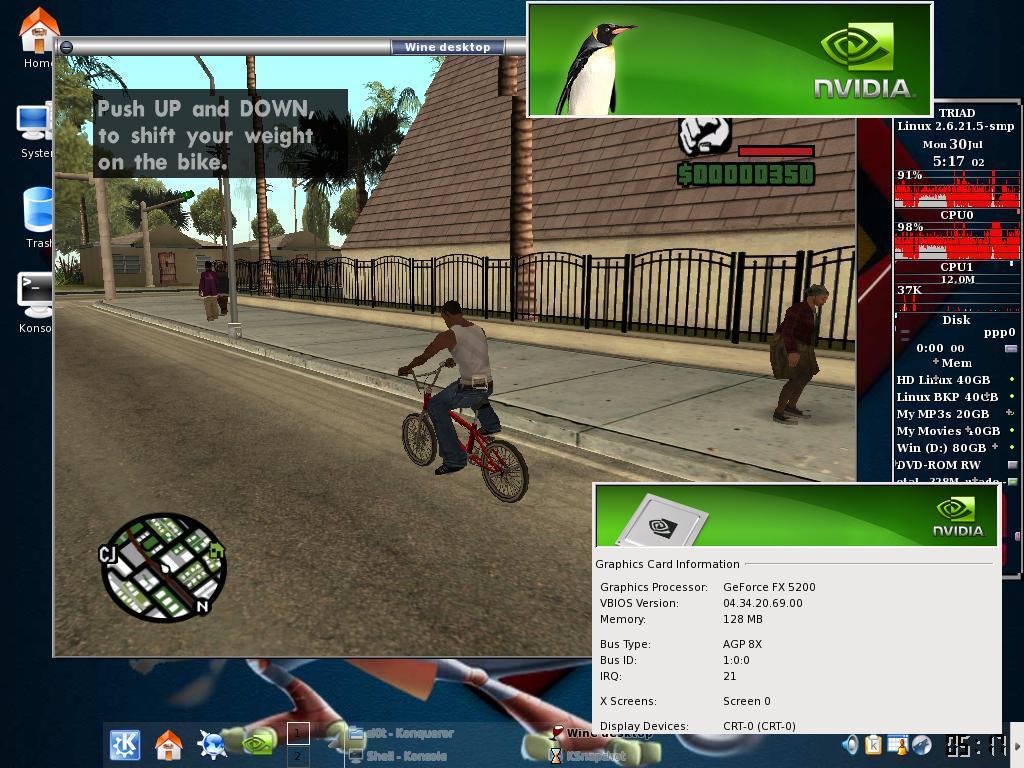 Wine rodando game de Windows no Linux; emulador chegará ao Android em breve (Foto: Reprodução/Viva o Linux)