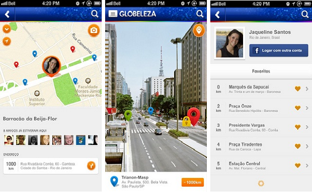 Aplicativo Globeleza mostra locais para folião curtir o carnaval (Divulgação/App Store)