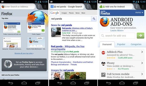 Firefox móvel está fazendo sucesso no Android (Foto: Divulgação)