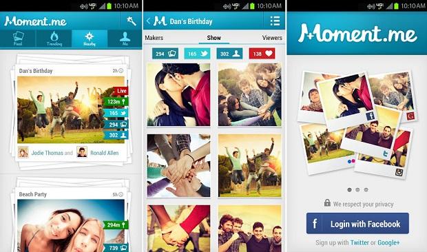 Moment é uma espécie de rede social multimídia (Foto: Divulgação)