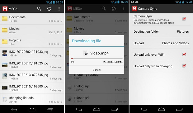 Versão não oficial de gerenciador de arquivos do Mega é ótima opção para os usuários (Foto: Divulgação)