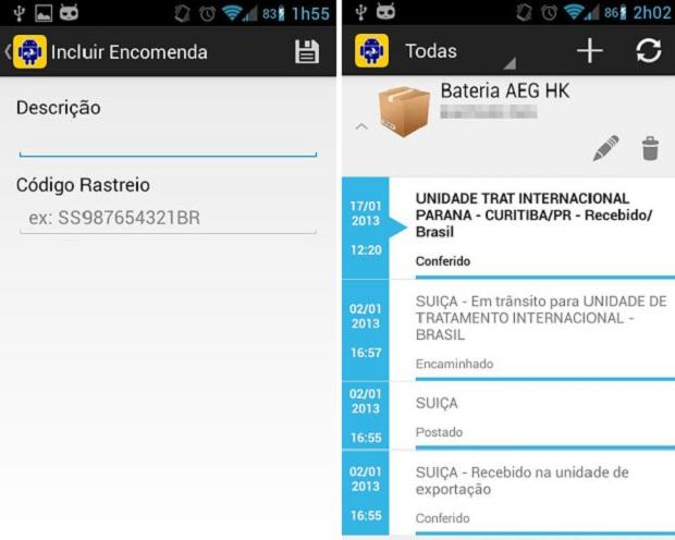 Rastreio de encomendas do correio direto na tela de seu celular é atrativo do app (Foto: Divulgação)