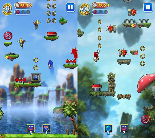 Sonic Jump para Android ganhou atualização com novos personagens e correção de bugs (Foto: divulgação)
