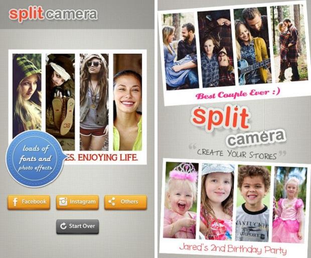 Split Camera é uma ótima opção para amantes de montagens de fotos (Foto: Divulgação)