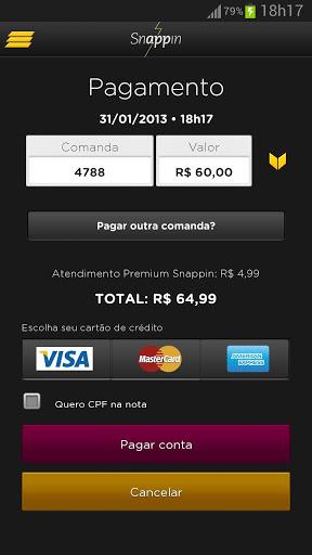 Página de confirmação de pagamento via Snappin (Foto: Divulgação)