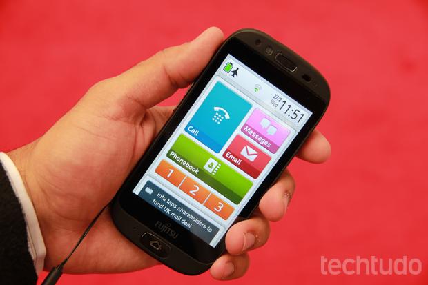 Android do Stylistic S01 tem interface modificada para deixar recursos importantes em destaque (Foto: Allan Melo/TechTudo)