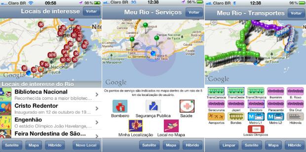 Localize os serviços mais próximo de você com o Meu Rio App (Foto: Reprodução/ Paula Carvalho)