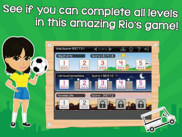 O Come On Rio oferece um game educativo sobre a cultura carioca (Foto: Reprodução/ Paula Carvalho)
