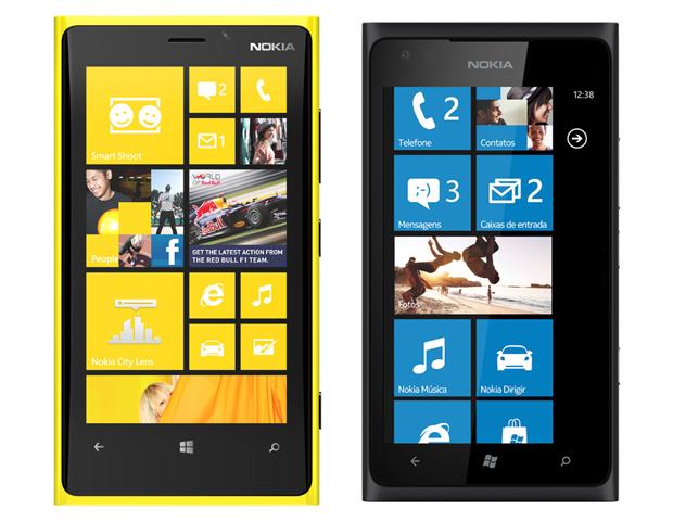 Nokia Lumia 920 e Nokia Lumia 900 (Foto: Divulgação)