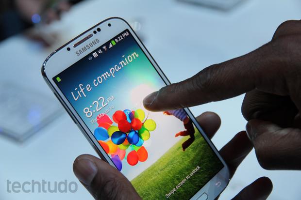 Galaxy S4 chegará ao Brasil em abril (Foto: Allan Melo/TechTudo)