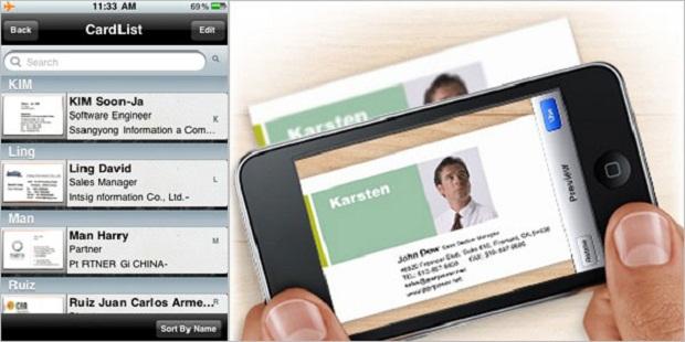CamCard para iPhone (Foto: Reprodução)