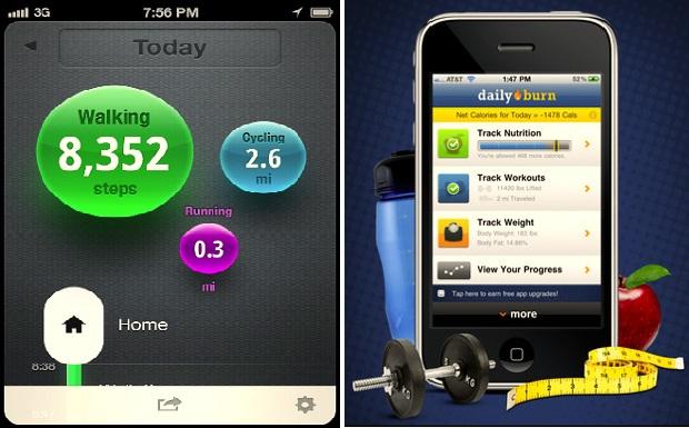 ProtoGeo Moves e DailyBurn Tracker para iPhone (Foto: Reprodução)