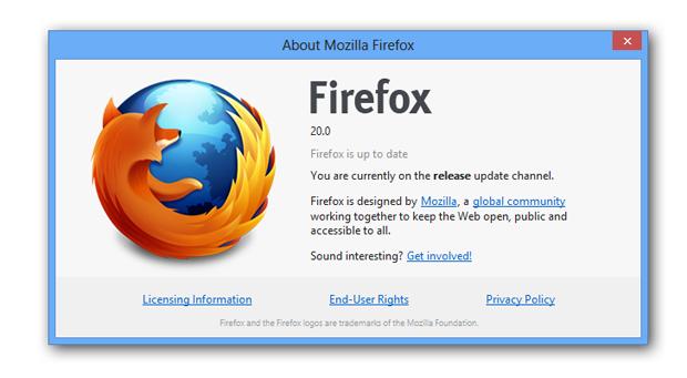 Firefox 20 é lançado com melhorias de usabilidade e privacidade. (Foto: Reprodução)