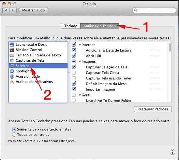 habilitar botao direito mouse mac