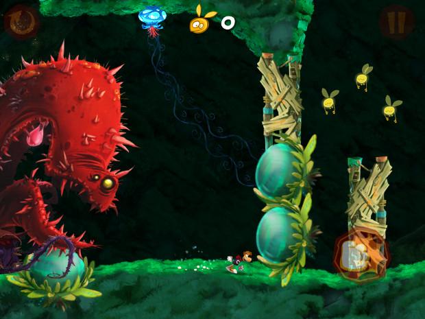 Atualização de Rayman Jungle Run traz inimigos do jogo do Wii, Rayman Origins (Foto: Reprodução/Dario Coutinho)