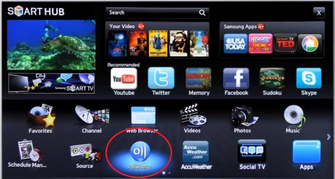 Confira se sua TV está conectada e na mesma rede AllShare (Foto: Divulgação)