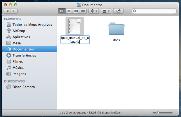 renomear arquivos no mac osx