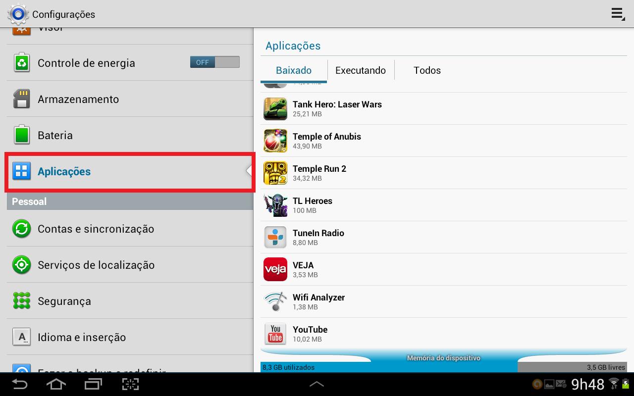 Android oferece a opção de limpeza de cache de aplicativos (Foto: Daniel Ribeiro/TechTudo)