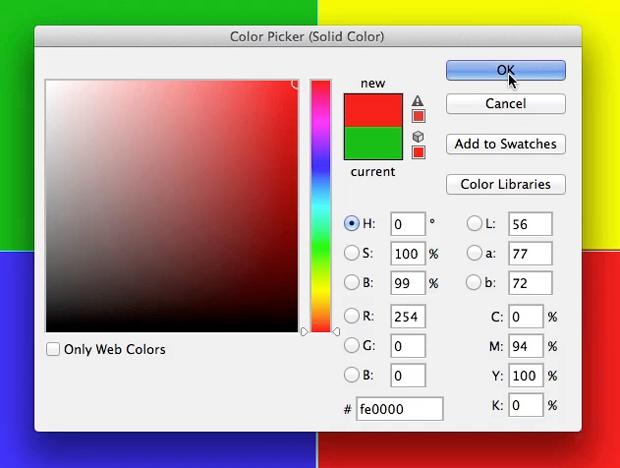 b90abcea1b6 Caixa de definição de cor no Photoshop. (Foto  Reprodução André Sugai)