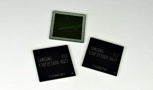 Memória RAM da Samsung, para aparelhos móveis, promete mais velocidade e menos consumo de energia (Foto: Divulgação)