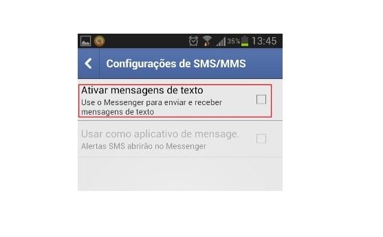 Opção para ativar mensagens de texto no aplicativo  (Foto: Reprodução/Lívia Dâmaso)