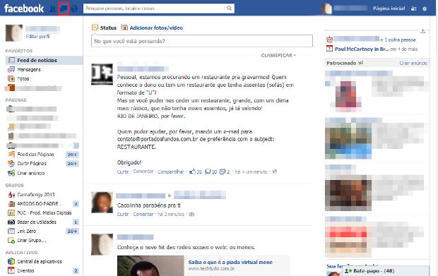 3ab7bdcfef Como usar o e-mail do Facebook   Dicas e Tutoriais   TechTudo