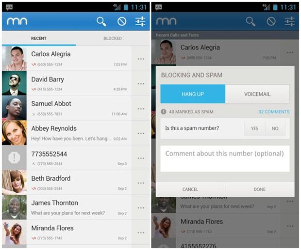 Mr. Number permite também bloquear chamadas de uma determinada localidade (Foto: Reprodução)