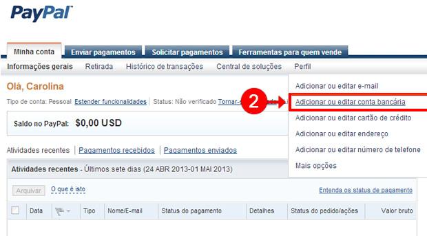 2d04a806db2 Como usar cartão de débito no PayPal