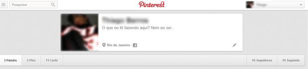 Acces la persoanele pe care le urmărești pe Pinterest (Foto: Redare / Thiago Barros)