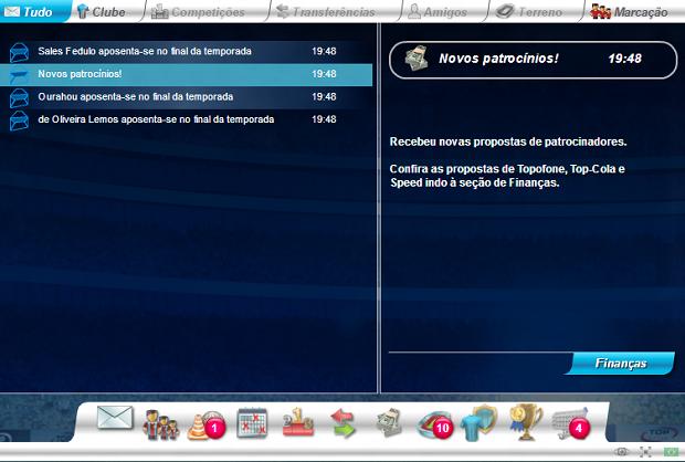 Mensagens podem exibir comunicados do game ou dos amigos (Foto: Reprodução/Thiago Barros)