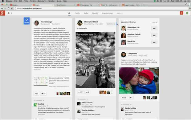 Nova interface do Google + (Foto: Reprodução/ YouTube)