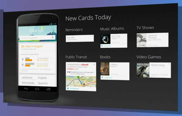 Novos cartões do Google Now (Foto: Reprodução/ YouTube)