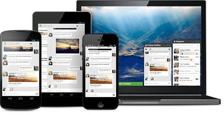 Hangouts, combina textos, fotos e vídeos ao vivo para Android, iOS e no seu desktop (Foto: Divulgação)